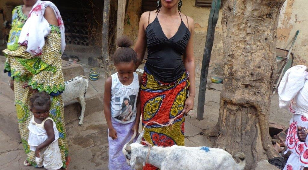 Rights Of Girls -Assetou Diarra with mum and goat
